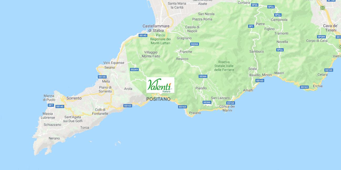 Valenti Positano map